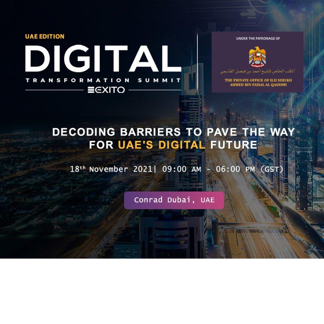 Digital Transformation Summit: UAE, 18 November | Event in Dubai | AllEvents.in