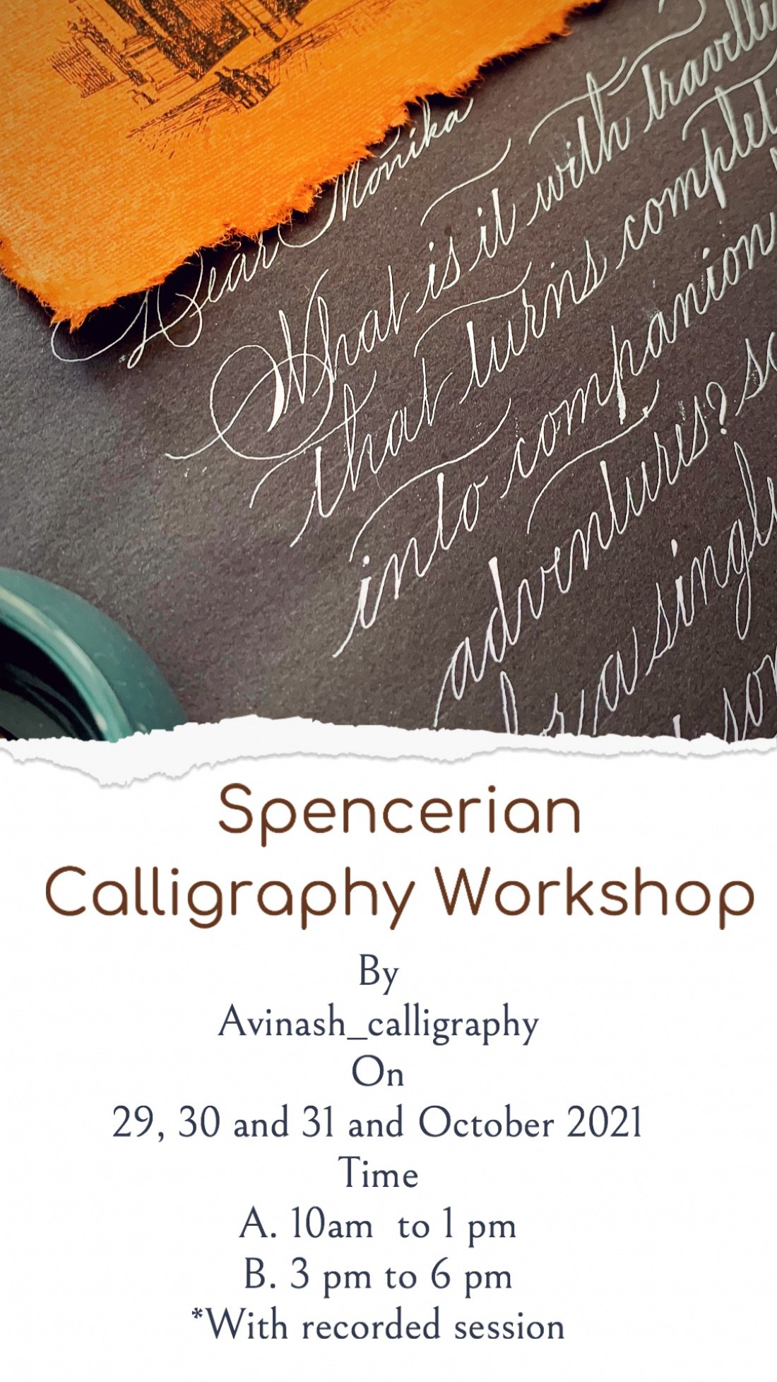 Introduction to Spencerian calligraphy , 23 October   Online Event   AllEvents.in
