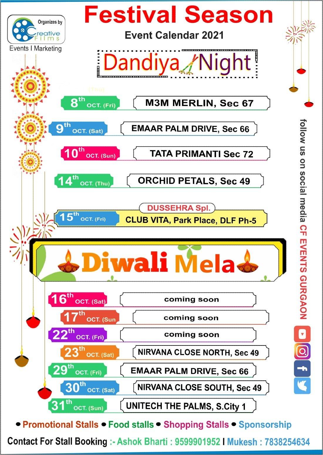 Dandiya Nights @ Tata Primanti Sec 72 | Event in Gurgaon | AllEvents.in