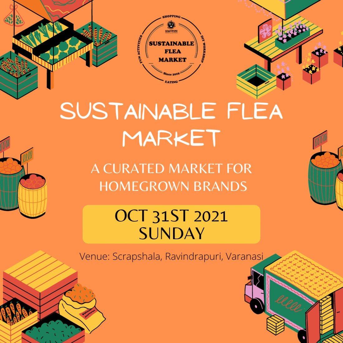 Sustainable flea market by Scrapshala, 31 October   Event in Varanasi   AllEvents.in