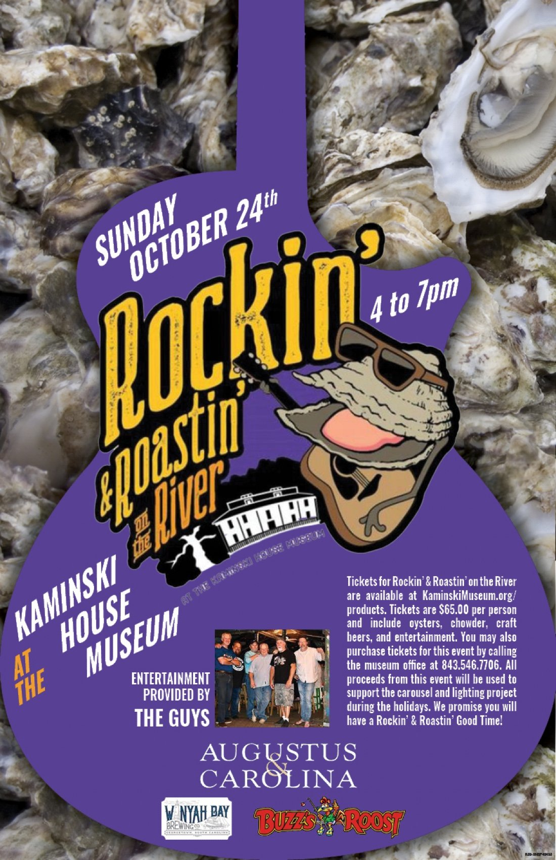 Rockin' & Roastin' on the River at the Kaminski House Museum, 24 October   Event in Georgetown   AllEvents.in
