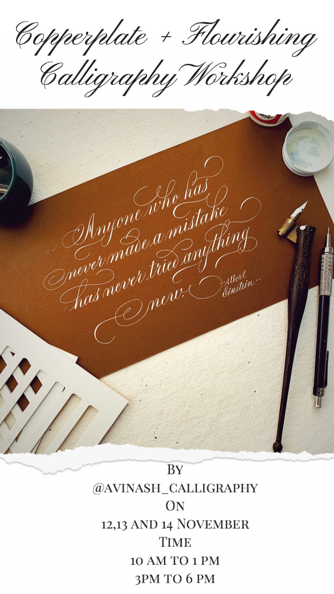 Copperplate + Flourishing Calligraphy Workshop, 12 November | Online Event | AllEvents.in
