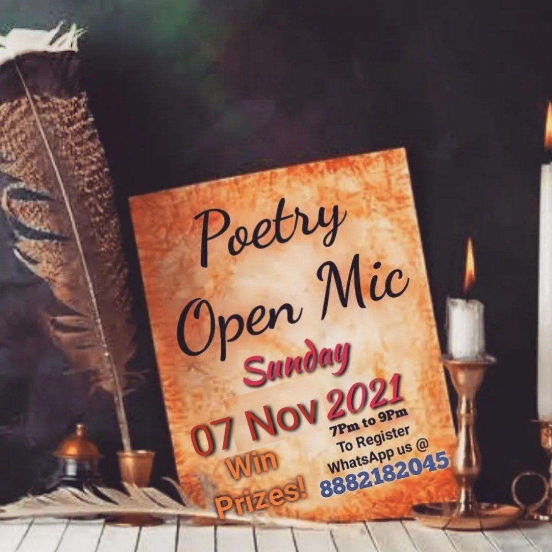 Alfaz(Open Mic Poetry) 3, 7 November | Online Event | AllEvents.in