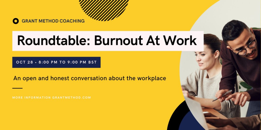 Roundtable - Managing Overwhelm and Burnout At Work, 28 October | Online Event | AllEvents.in
