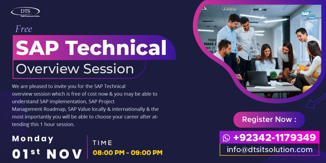 Free SAP Technical Overview Session, 1 November | Online Event | AllEvents.in