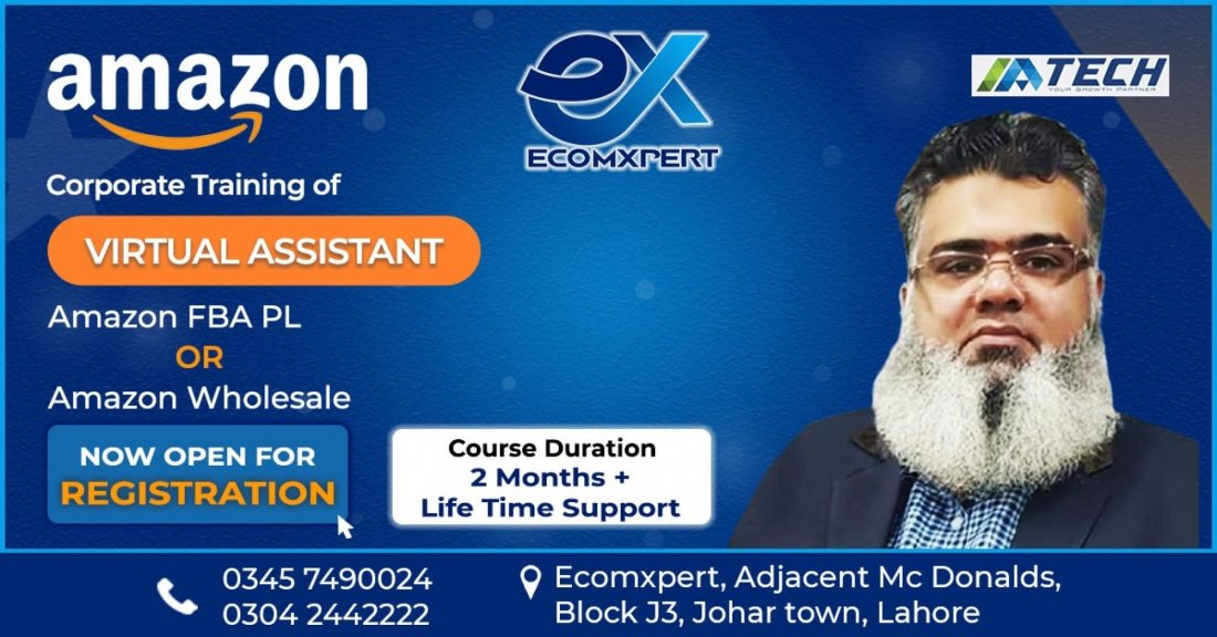 Amazon Virtual Assistant Training On Real Seller Accounts, 2 November | Event in Lahore | AllEvents.in