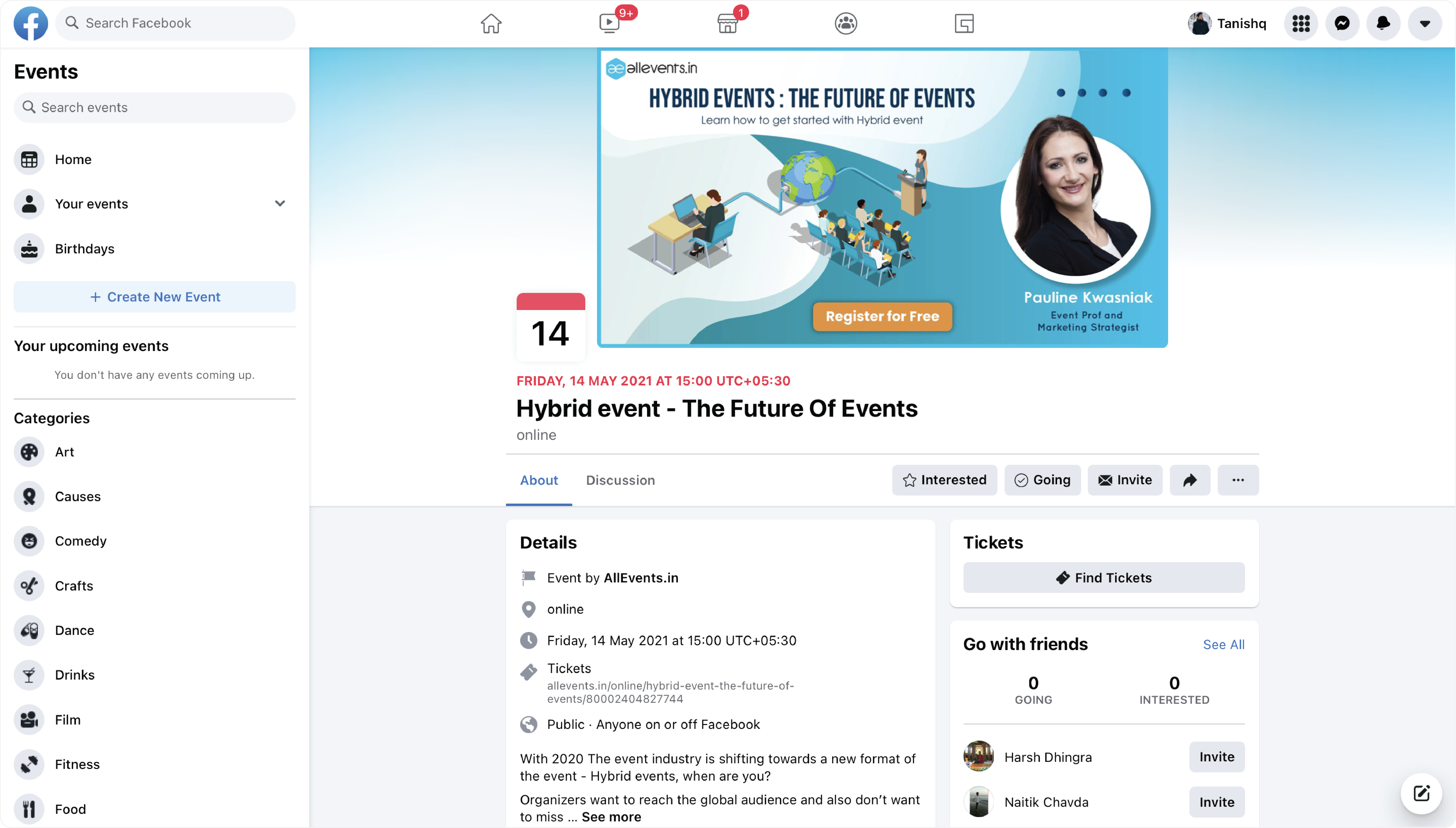 Facebook-event-find-tickets
